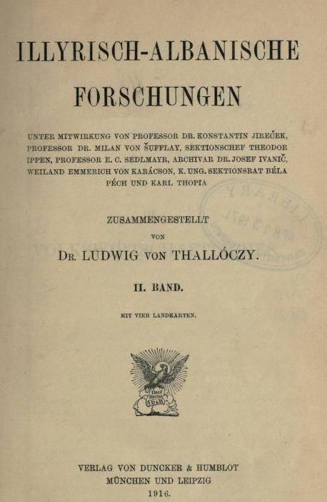 """""""Illyrisch-Albanische Forschungen"""