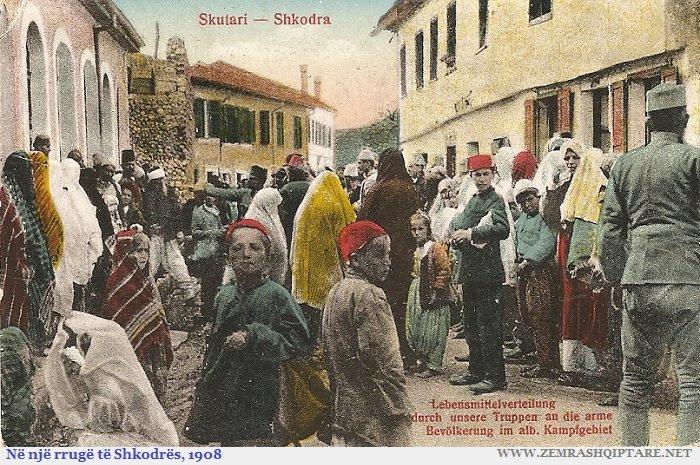 Shpërndarje buke në Shkodër viti 1908