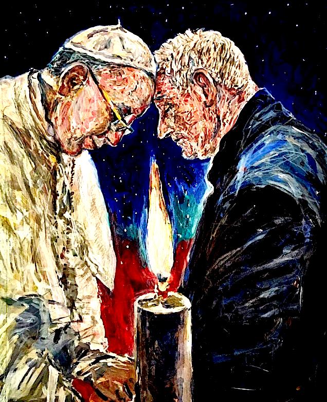 Papa Françesku dhe Dom  Ernest Simoni - Pikture nga Gjergj Kola