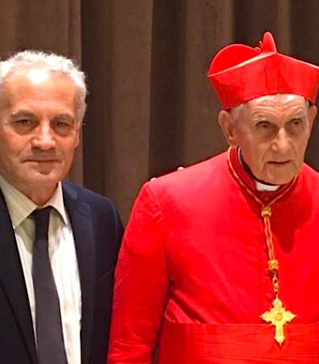 Poeti Visar Zhiti me Kardinalin Ernest Simoni