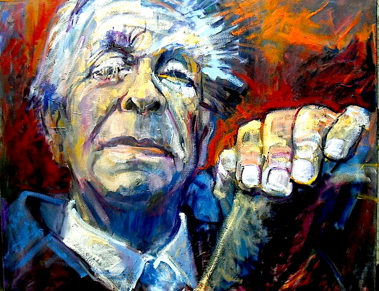 Jorge Luis Borges - pikture nga Beti Alonso
