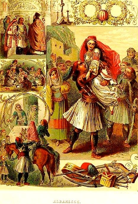 Dasem Shqiptare - kolazh pikturash