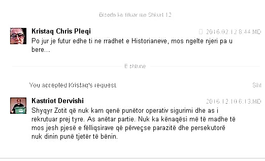 Kristaq (Chris) Pleqi - Kastriot Dervishi