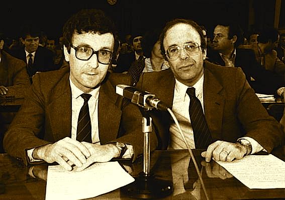 Ylli Bufi dhe Fatos Nano 1991