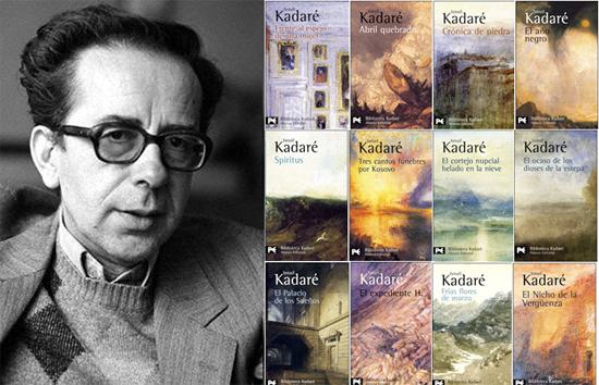 Ismail Kadare dhe pjese nga botimet e tij