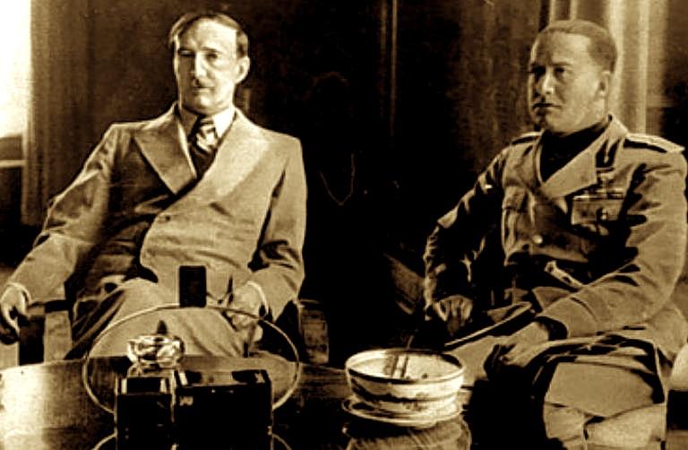 Ahmet Zogu & Galeazzo Ciano