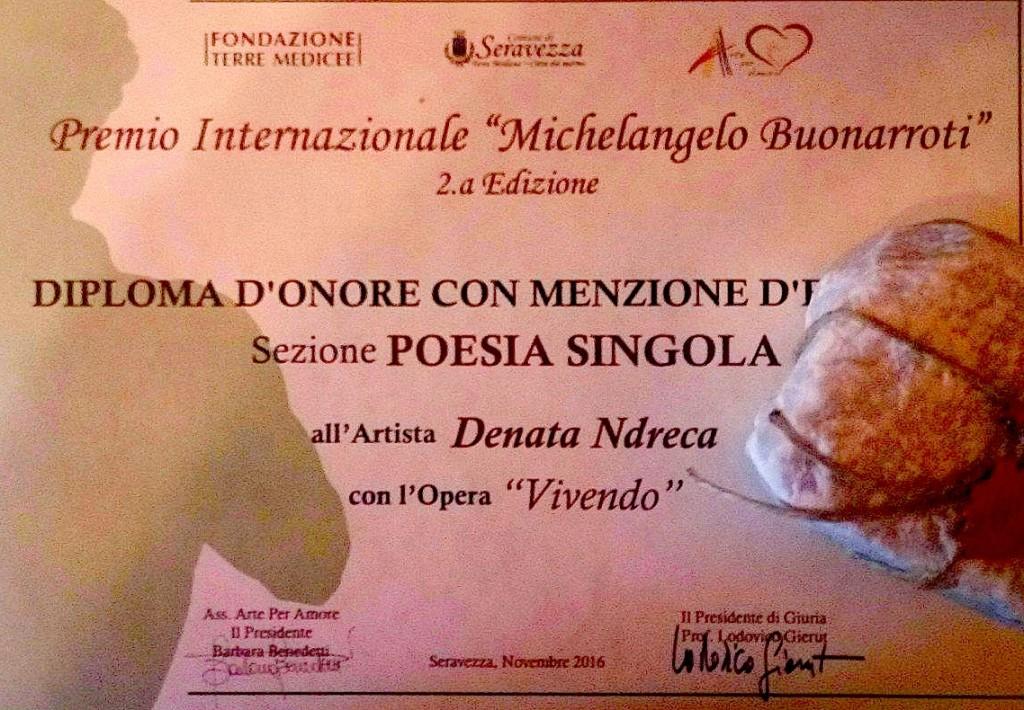 Nji çmim vlerësues ndërkombëtar për Denata Ndrecën - 2016
