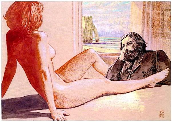 Poeti dhe Muza - pikture nga Milo Manara