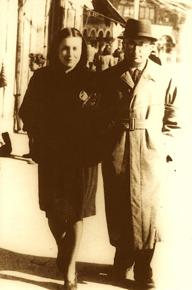 Musineja dhe i vëllai saj në Romë - 1940