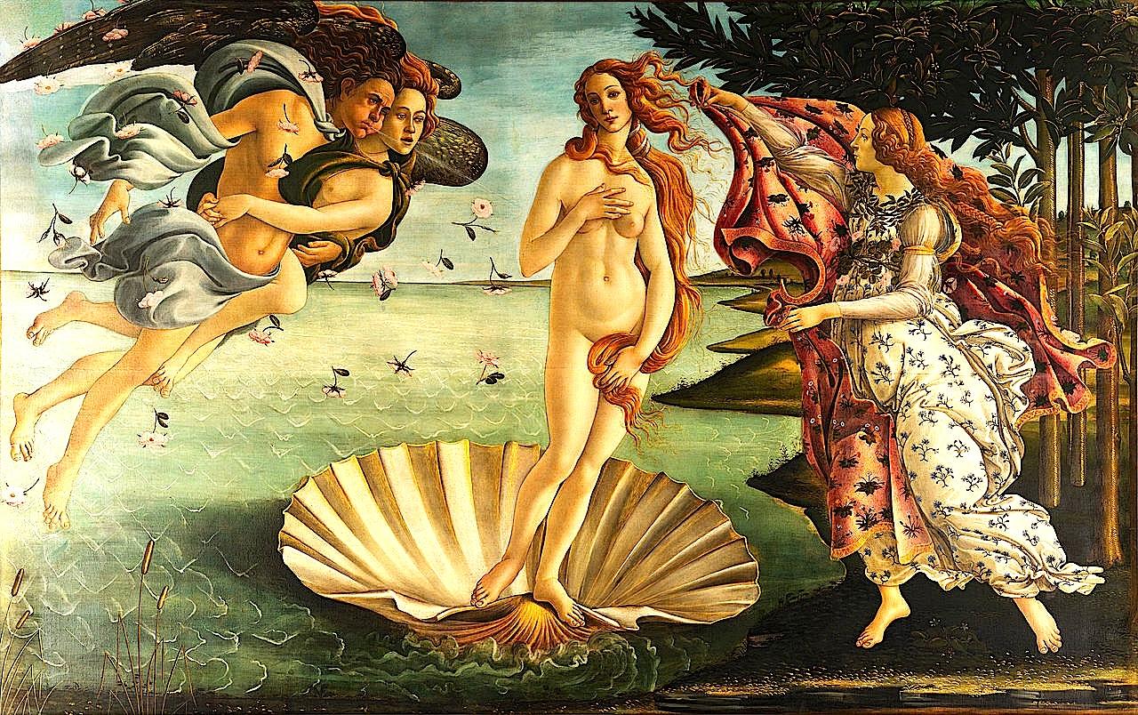 Sandro Botticelli - La Nascita di Venere (Lindja e Venusit)