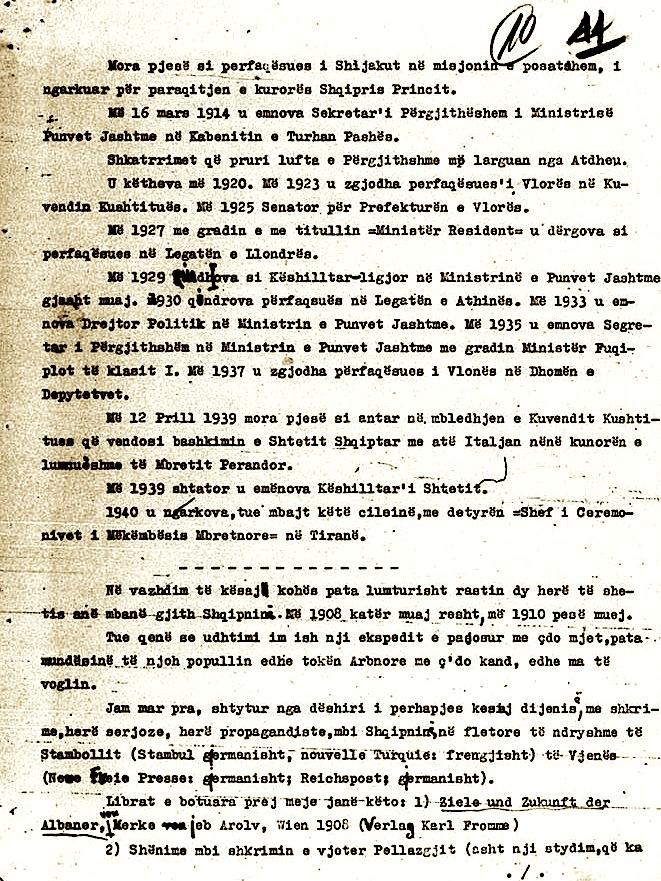 Fac-simile nga jetëshkrimi i Eqrem bej Vlorës (2)