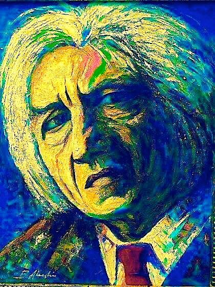 Dritero Agolli - (pikturë nga Bashkim Alushi)