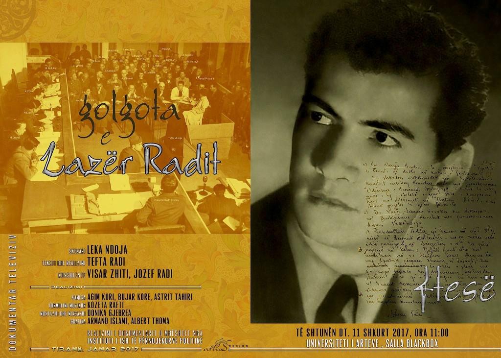 """Promovimi i dokumentarit """"Golgota e Lazër Radit"""""""