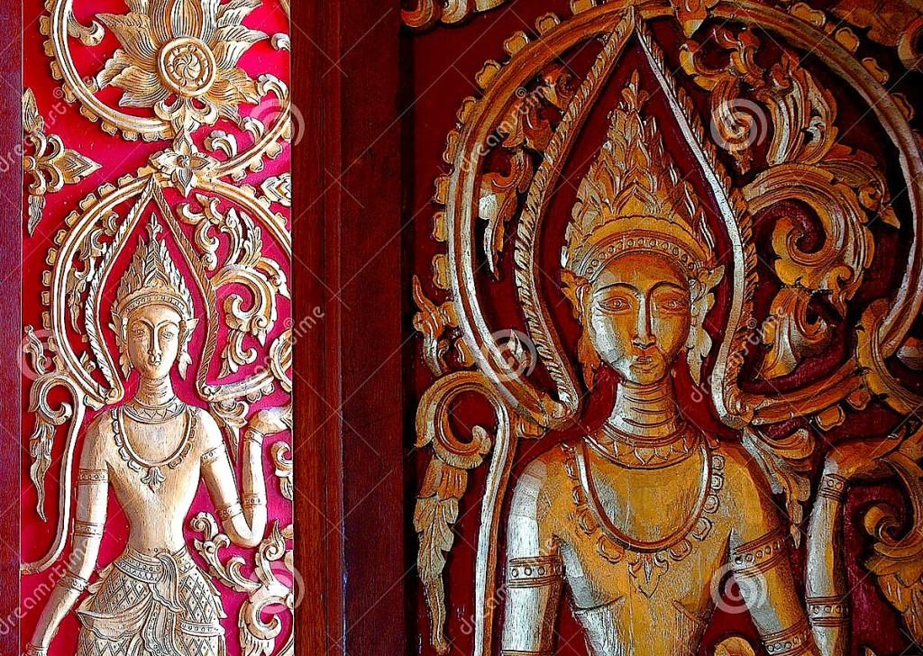 Bukuri Artistike - Portë e gdhendur në Laos