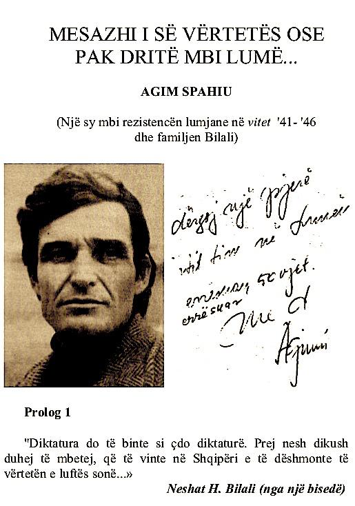 Flete nga vepra e Agim Spahiut