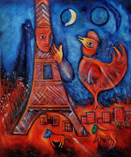 Marc Chagall Bonjour Paris - 1939