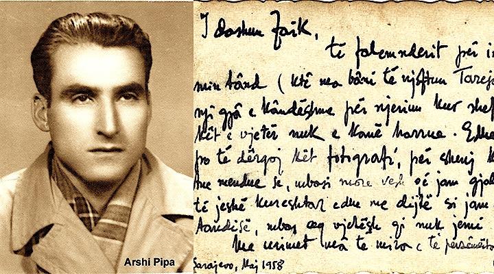 Arshi Pipa i shkruan Faik Mirakut 1958