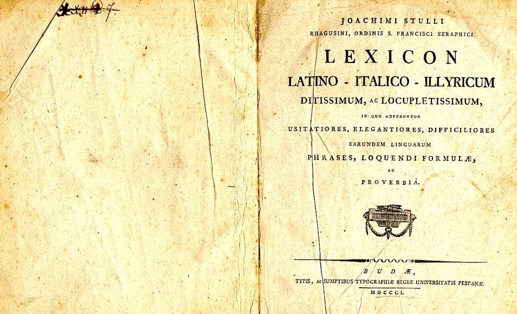 Joachimi Stulli - Lexicon Latino - Italico -Illyricum