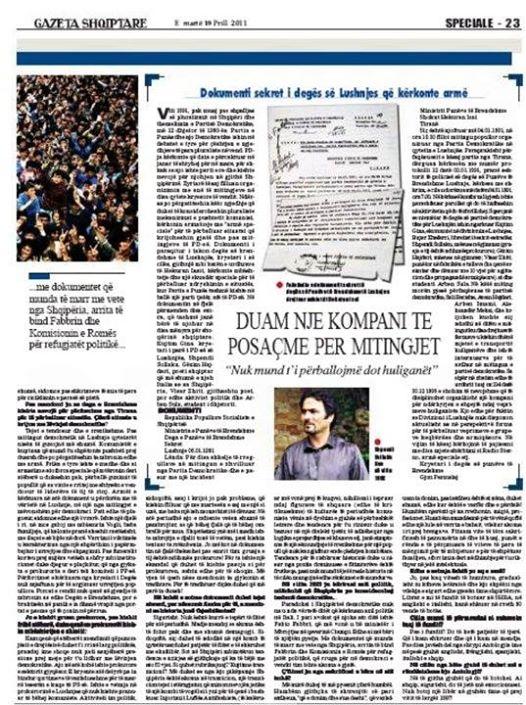 Gazeta Shqiptare - Shpend Sollaku Noe - Interviste