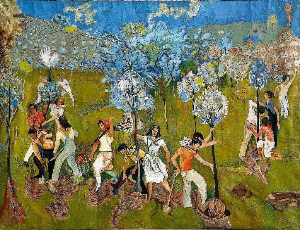 Mbjellja e Pemëve - pikturë nga Edi Hila
