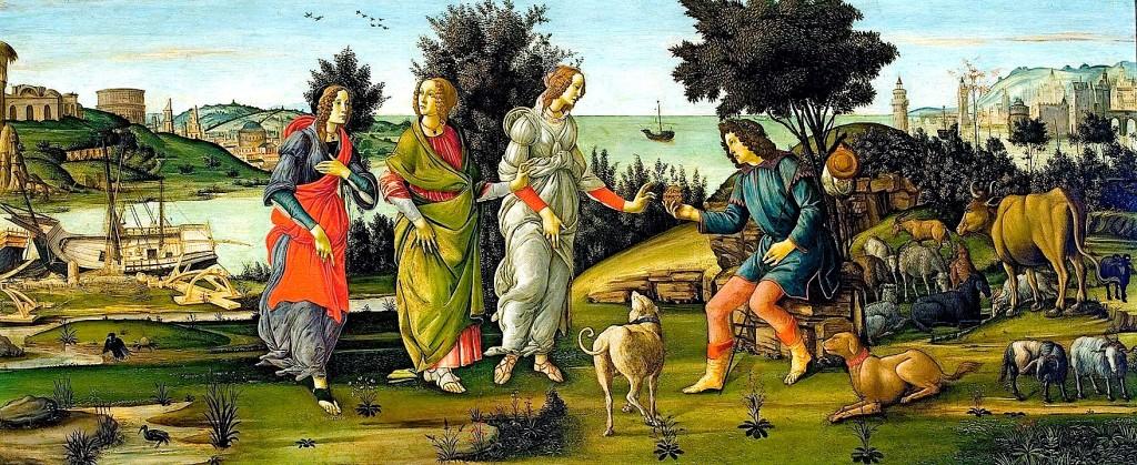 Sandro Botticelli - Zgjedhja e Parisit