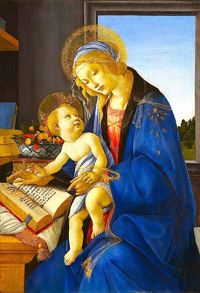 Sandro Botticelli - Virgjnesha dhe Fëmija (Madona e Librit)