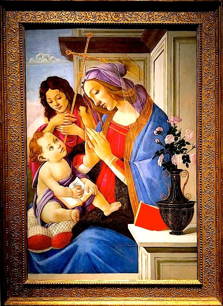 Sandro Botticelli - Virgjnesha dhe Fëmija me Shën Gjon Pagëzorin