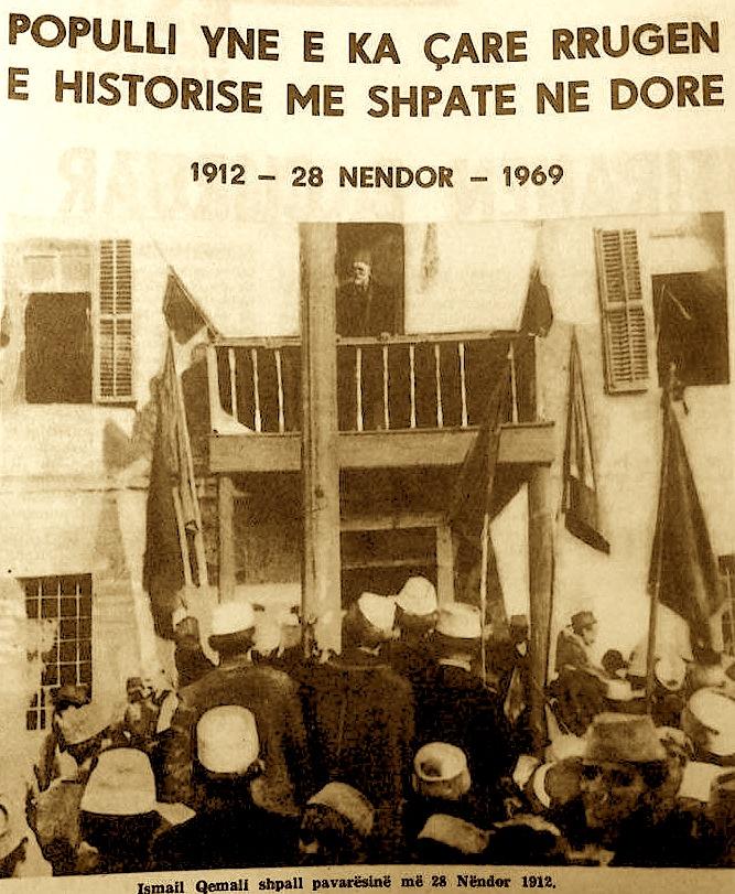 """""""Ismail Qemali shpall pavarësinë më 28 Nëntor 1912"""""""