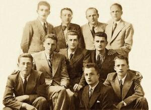 Studentë shqiptarë Montpellier Francë 1938, mes tyre edhe Omari, Rami etjerë