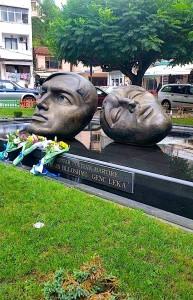Përmendorja e poetëve të Blloshmi dhe Leka të vrarë nga Diktatura...