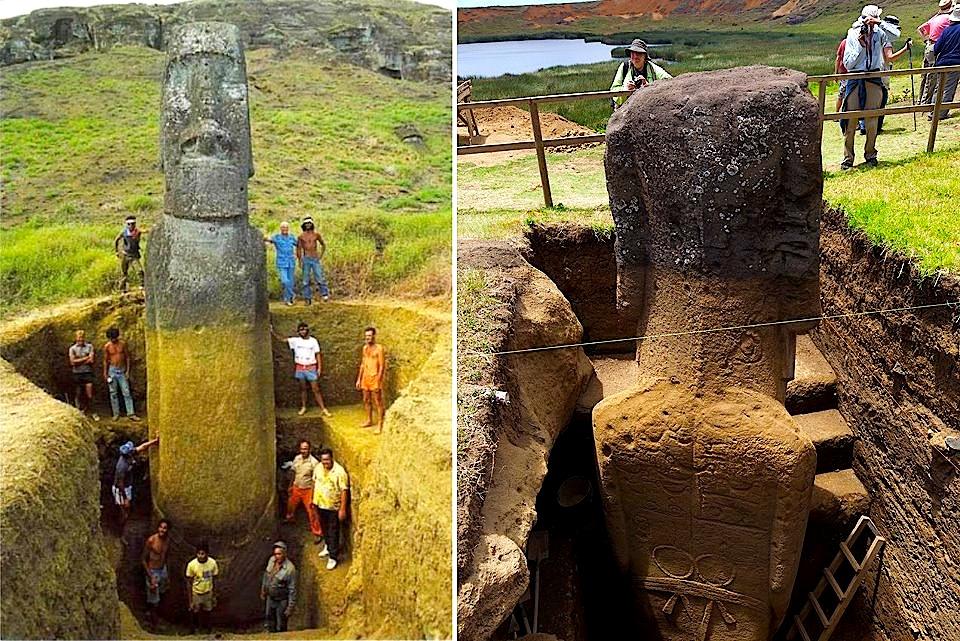 Ishulli i Pashkës... Gërmimet e Statujave