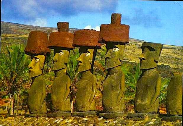 Statujat Moai janë të larta nga 2.5 deri në 10 metra
