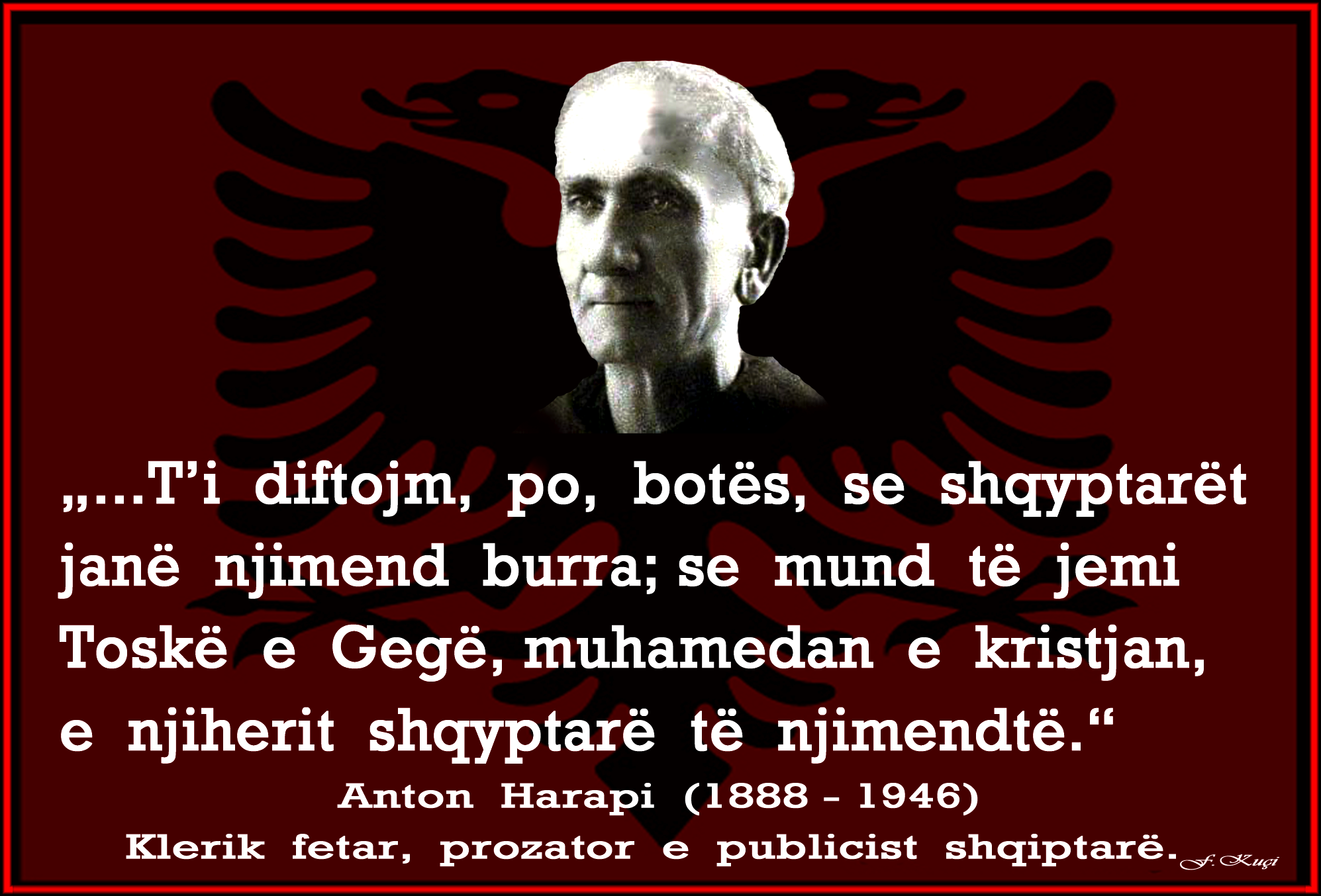 Anton Harapi - Atdhetarizmi