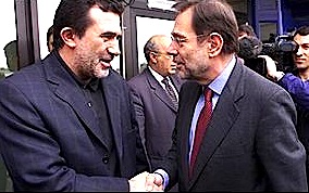 Arben Xhaferri & Havier Solana