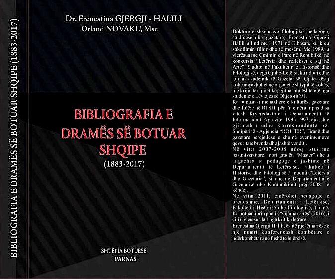 Erenestina Gjergj - Halili  & Orland Novaku - Bibliografia e Dramës së Botuar Shqipe