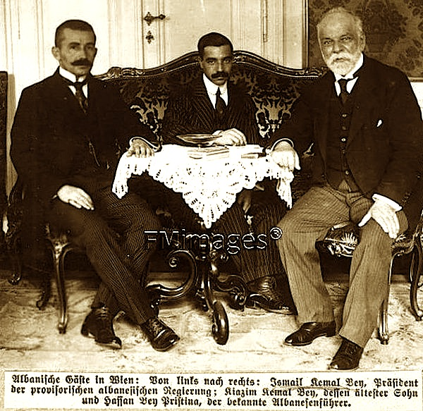 Ismail Qemali i biri dhe Hasan Prishtina, ne Vjene...