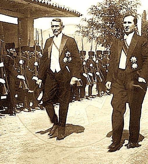 Kryeministri Pandeli Evangjeli & Ministri i Brendshem Koço Kota 1928