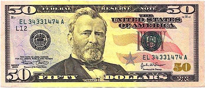Uliks S. Grant (1822-1885) - Monedha 50 $