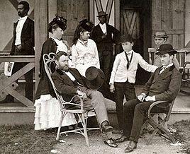 Uliks Granti me familjen, 1870.