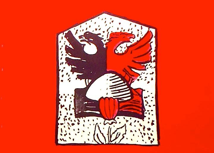 Ibrahim Kodra - Flamuri Shqiptar - stilizim