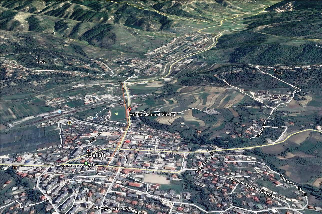 Harta e qytetit te Ballshit dhe Rruga Mehmet Shehu