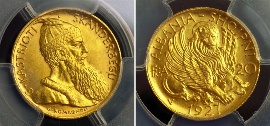 Frang ari - Monedhe shqiptare 1927