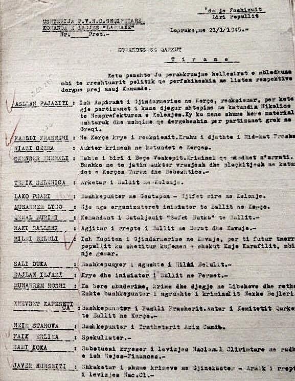 Material mbi të cilën u ngritën akuzat mbi Lazër Radin, në Gjyqin Special (a)