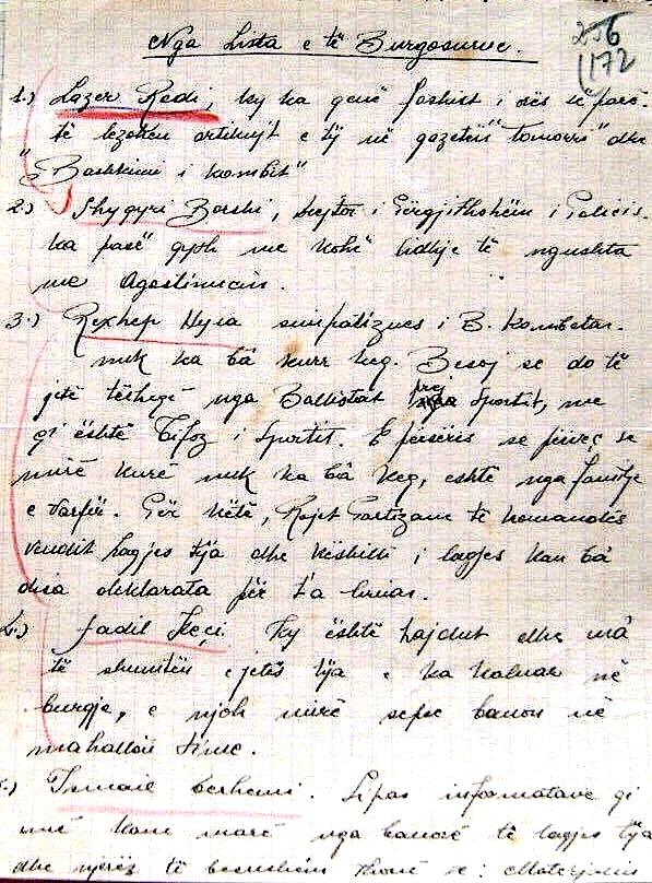 Material mbi të cilën u ngritën akuzat mbi Lazër Radin, në Gjyqin Special (e)