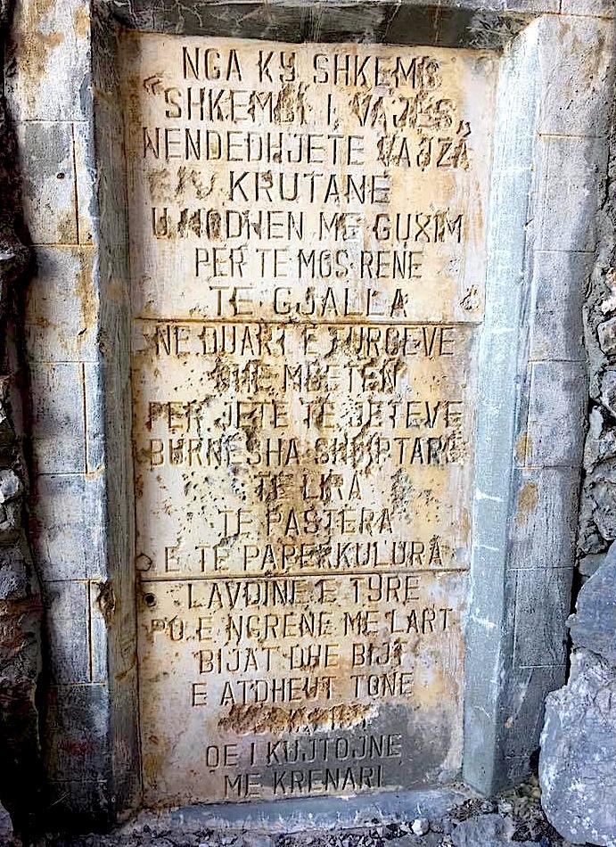 Perkujtimorja e Shkëmbit të Vajës - Krujë