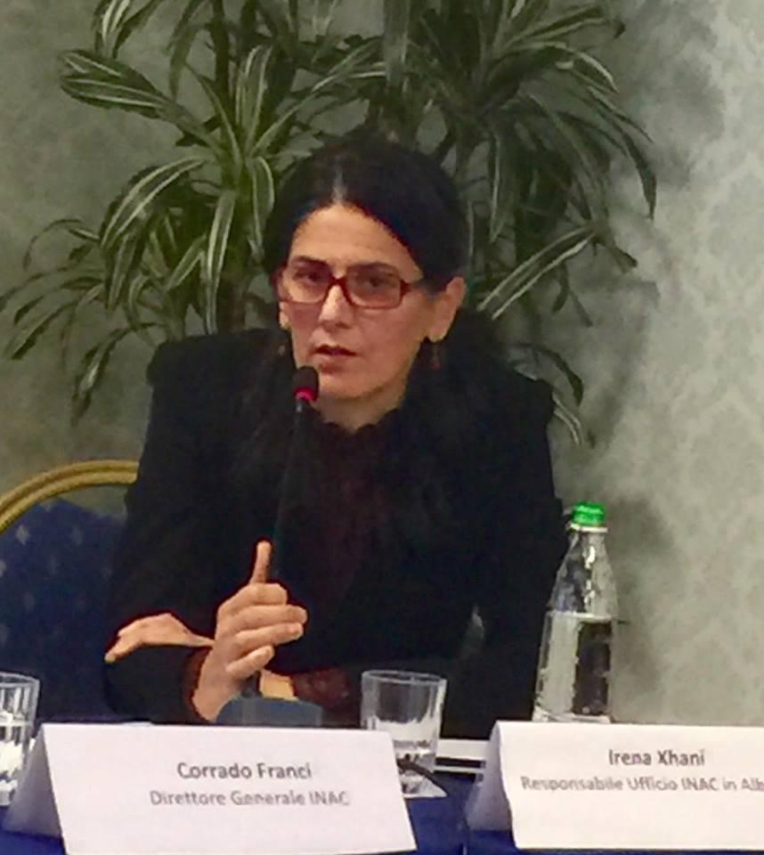 Irena Xhani - Përgjegjëse e zyrës së INAC-ut për Shqipërinë