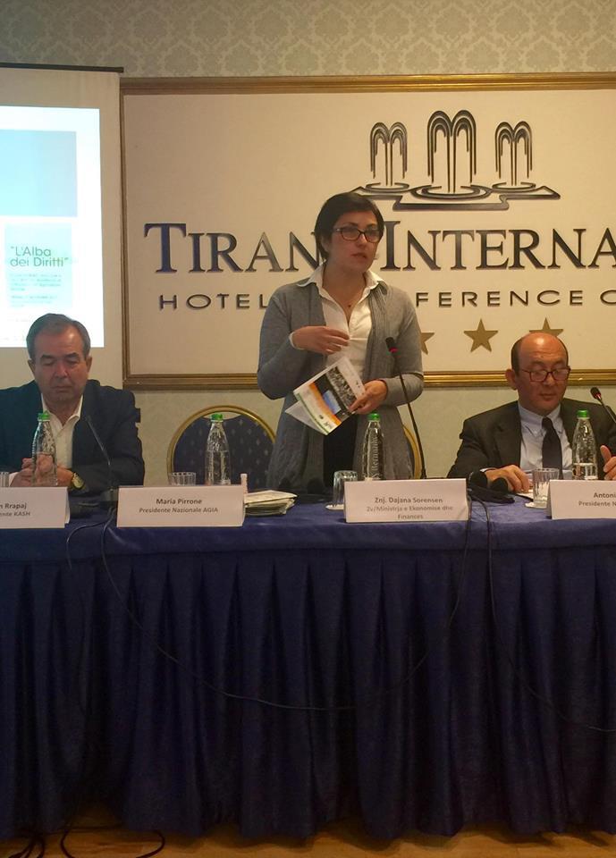 Maria Pirrone - presidente e Nazionale e AGIA