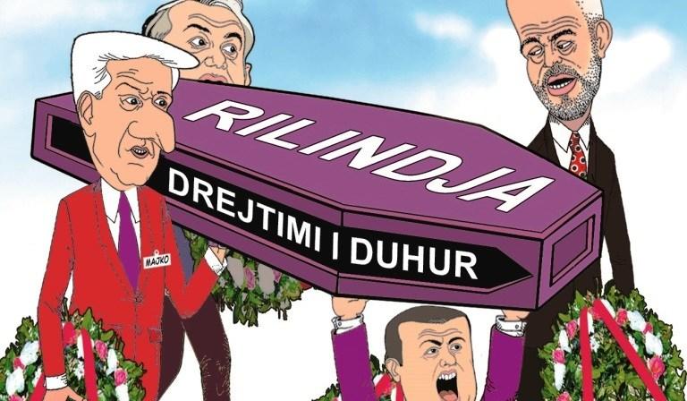 Ngushëllime projektit - Të rroni vetë! (karikatura nga Bujar Kapexhiu)