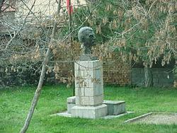 Busti i Asdrenin në fshatin e lindjes në Drenovë