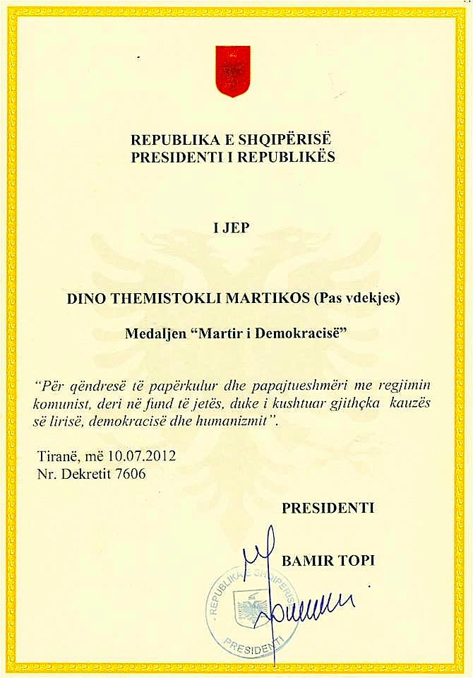 Dino Martiko - Martir i Demokracisë